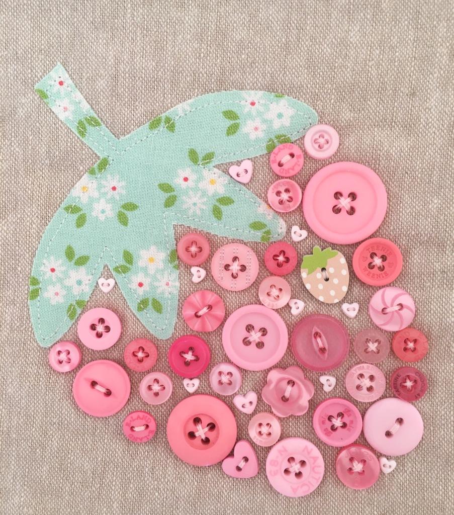 Strawberry Button Applique